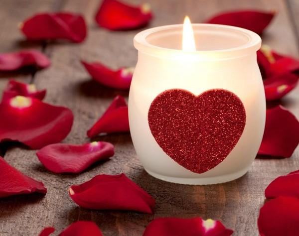 vela Día de San Valentín