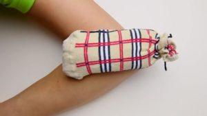 calcetin calentador muscular