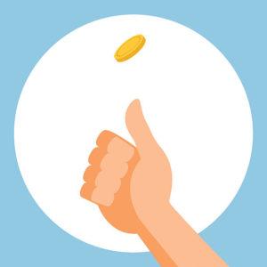 Throw coin