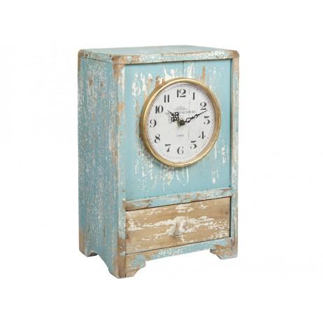 reloj-de-madera-azul-vintage