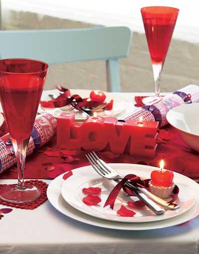 cena Día de San Valentín
