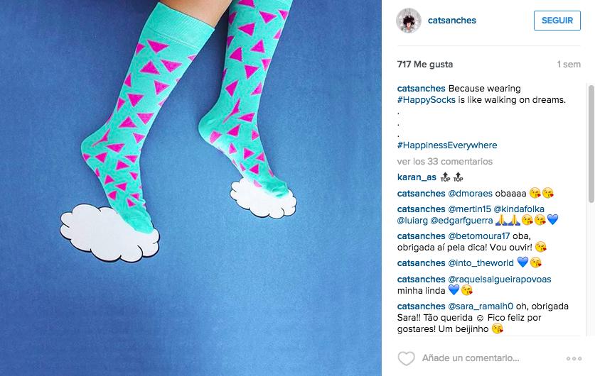 moda de calcetines en instagram